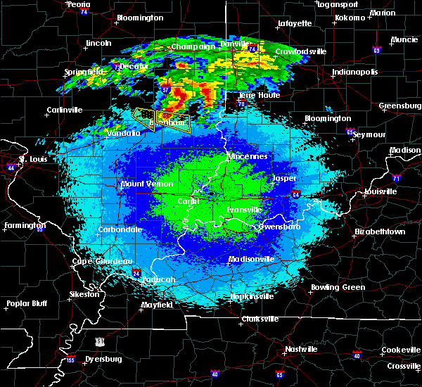 Radar Image for Severe Thunderstorms near Charleston, IL at 5/2/2020 11:27 PM CDT