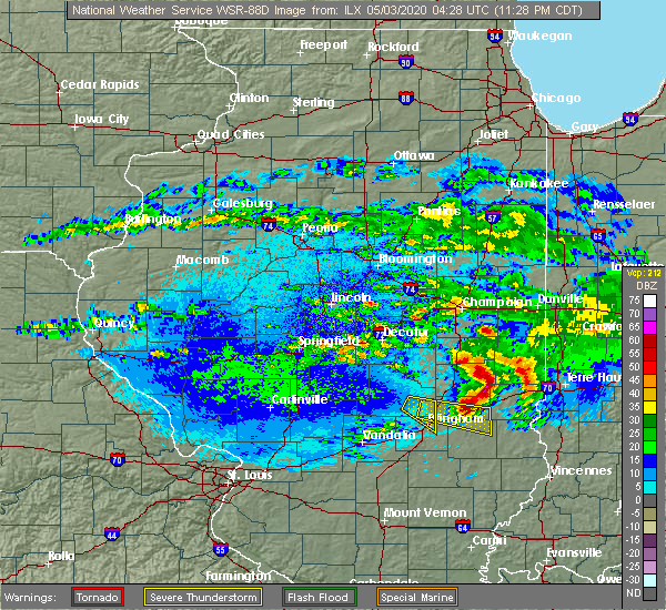 Radar Image for Severe Thunderstorms near Sigel, IL at 5/2/2020 11:29 PM CDT