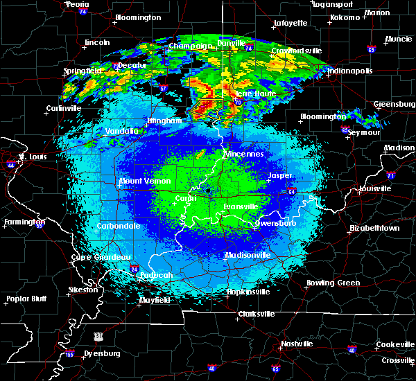 Radar Image for Severe Thunderstorms near West Union, IL at 5/2/2020 11:52 PM CDT