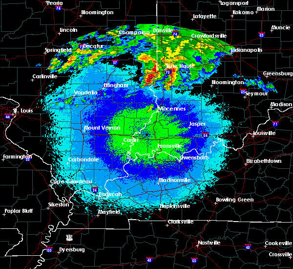 Radar Image for Severe Thunderstorms near West Union, IL at 5/3/2020 12:03 AM CDT