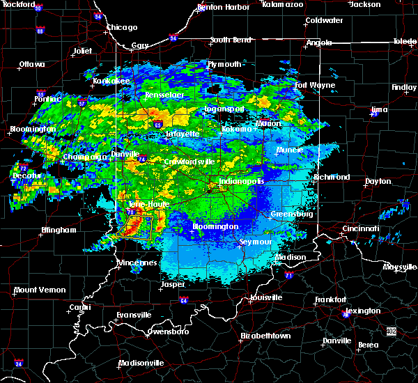 Radar Image for Severe Thunderstorms near Coalmont, IN at 5/3/2020 1:32 AM EDT