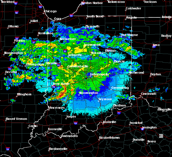 Radar Image for Severe Thunderstorms near Coalmont, IN at 5/3/2020 1:44 AM EDT