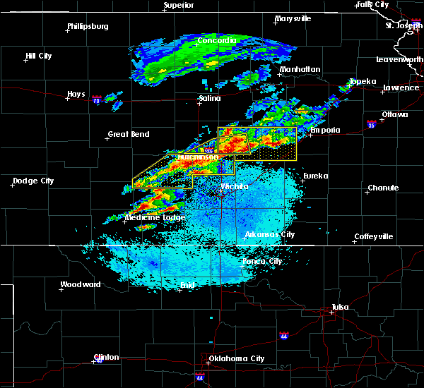 Radar Image for Severe Thunderstorms near Lehigh, KS at 5/3/2020 5:44 AM CDT