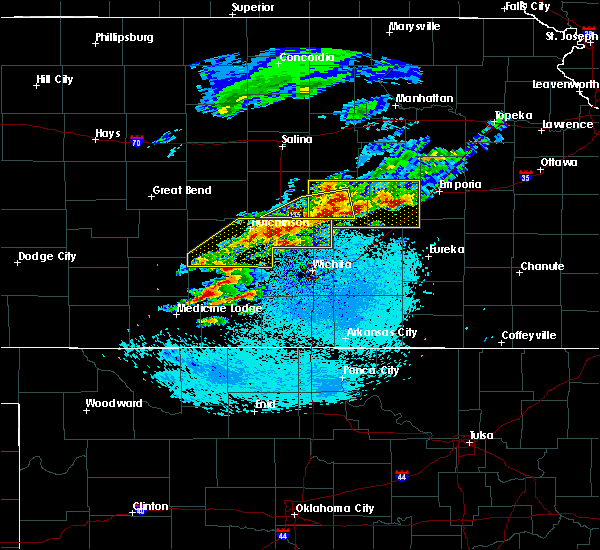 Radar Image for Severe Thunderstorms near Kingman, KS at 5/3/2020 5:51 AM CDT