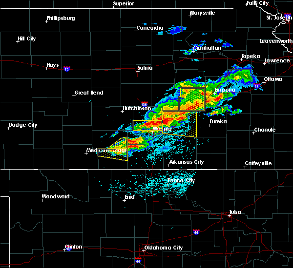 Radar Image for Severe Thunderstorms near Mayfield, KS at 5/3/2020 6:38 AM CDT