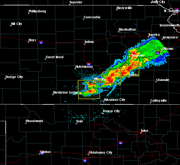 Radar Image for Severe Thunderstorms near Severy, KS at 5/3/2020 7:15 AM CDT