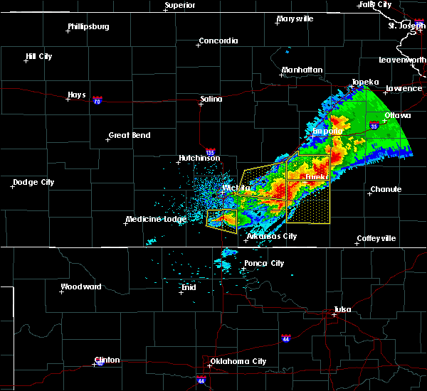 Radar Image for Severe Thunderstorms near Belle Plaine, KS at 5/3/2020 7:28 AM CDT