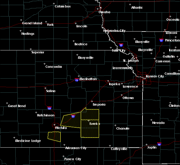 Radar Image for Severe Thunderstorms near Hamilton, KS at 5/3/2020 7:35 AM CDT