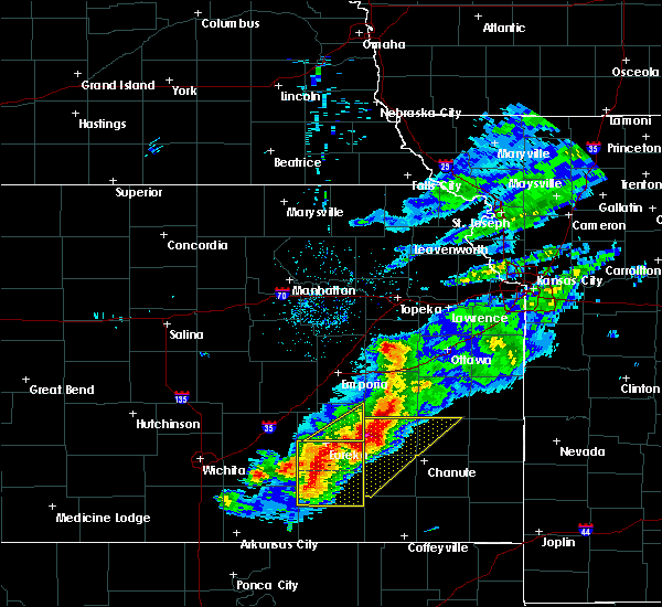 Radar Image for Severe Thunderstorms near Hamilton, KS at 5/3/2020 7:40 AM CDT