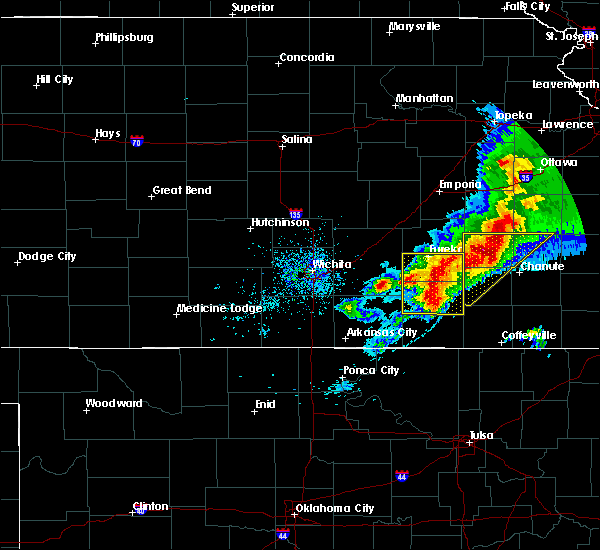 Radar Image for Severe Thunderstorms near Severy, KS at 5/3/2020 7:53 AM CDT