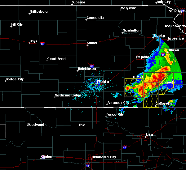 Radar Image for Severe Thunderstorms near Severy, KS at 5/3/2020 8:12 AM CDT