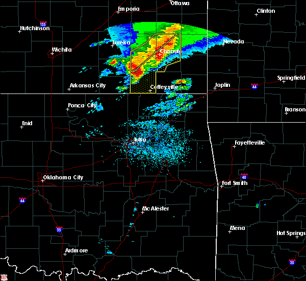 Radar Image for Severe Thunderstorms near Neodesha, KS at 5/3/2020 8:25 AM CDT