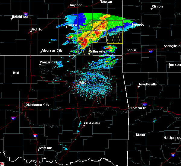 Radar Image for Severe Thunderstorms near Neodesha, KS at 5/3/2020 8:33 AM CDT
