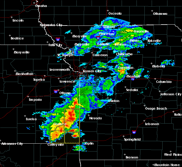 Radar Image for Severe Thunderstorms near Richards, MO at 5/3/2020 8:56 AM CDT