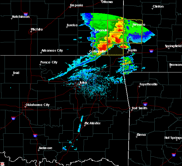 Radar Image for Severe Thunderstorms near Baxter Springs, KS at 5/3/2020 9:04 AM CDT