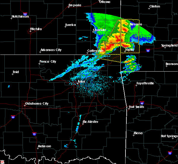 Radar Image for Severe Thunderstorms near Baxter Springs, KS at 5/3/2020 9:19 AM CDT