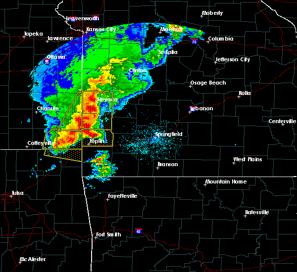 Radar Image for Severe Thunderstorms near La Russell, MO at 5/3/2020 9:22 AM CDT