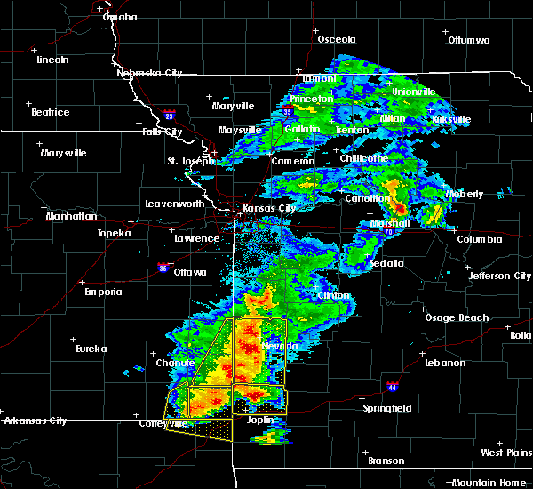 Radar Image for Severe Thunderstorms near Richards, MO at 5/3/2020 9:23 AM CDT