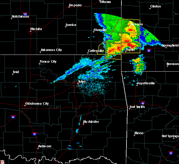 Radar Image for Severe Thunderstorms near Baxter Springs, KS at 5/3/2020 9:31 AM CDT
