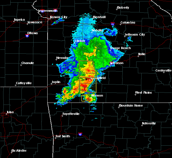 Radar Image for Severe Thunderstorms near Hollister, MO at 5/3/2020 10:36 AM CDT