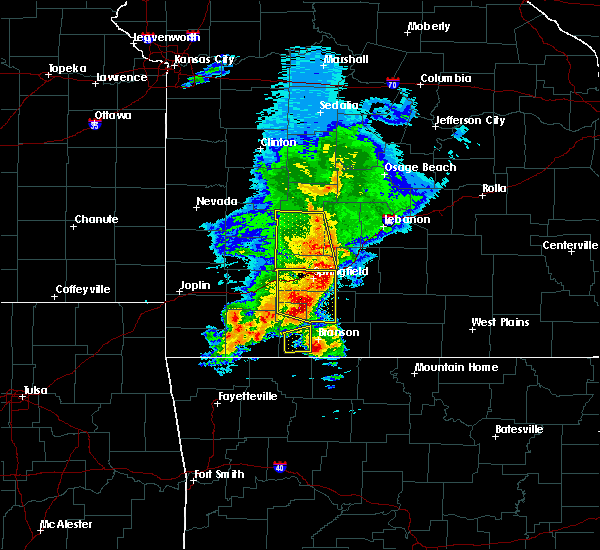 Radar Image for Severe Thunderstorms near Bennett Springs, MO at 5/3/2020 10:39 AM CDT