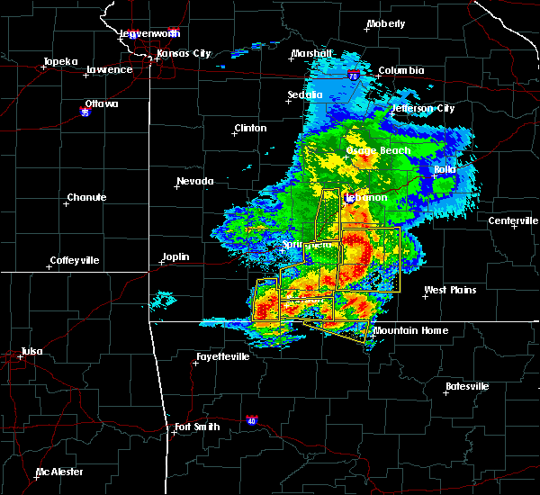 Radar Image for Severe Thunderstorms near Kimberling City, MO at 5/3/2020 11:20 AM CDT