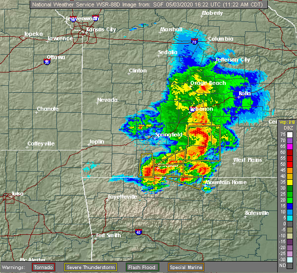 Radar Image for Severe Thunderstorms near Merriam Woods, MO at 5/3/2020 11:24 AM CDT