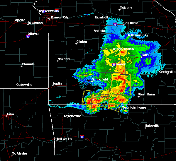 Radar Image for Severe Thunderstorms near Hollister, MO at 5/3/2020 11:30 AM CDT