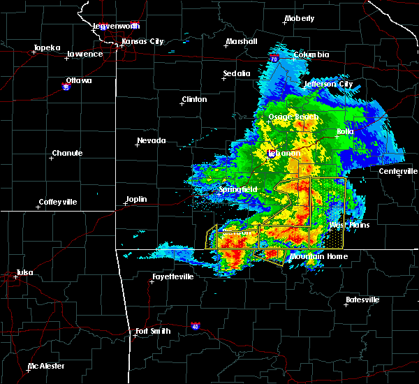 Radar Image for Severe Thunderstorms near Kimberling City, MO at 5/3/2020 11:40 AM CDT