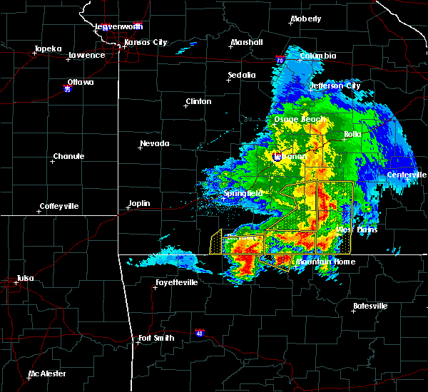 Radar Image for Severe Thunderstorms near Taneyville, MO at 5/3/2020 11:50 AM CDT