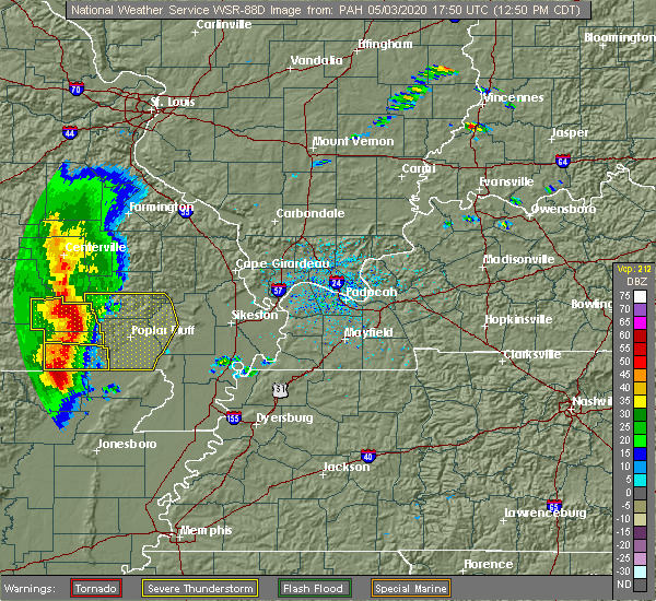 Radar Image for Severe Thunderstorms near Hunter, MO at 5/3/2020 12:53 PM CDT