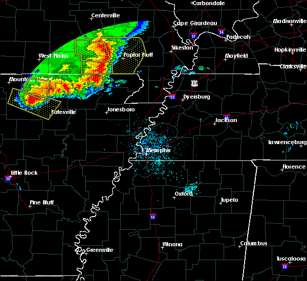Radar Image for Severe Thunderstorms near College City, AR at 5/3/2020 1:04 PM CDT