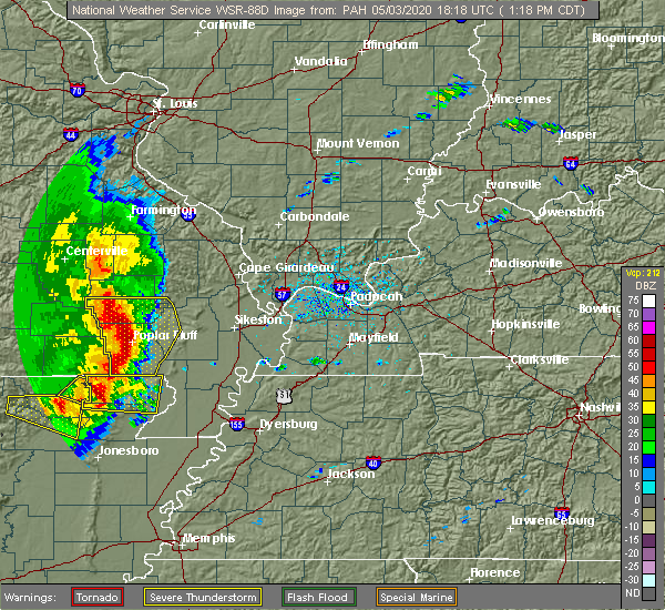 Radar Image for Severe Thunderstorms near Fairdealing, MO at 5/3/2020 1:19 PM CDT