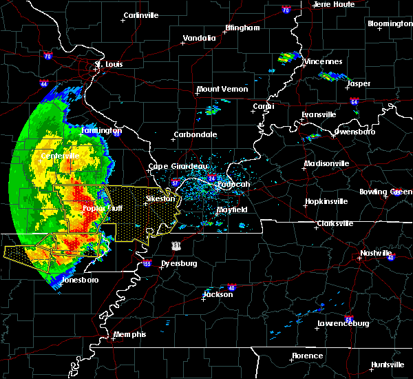 Radar Image for Severe Thunderstorms near Essex, MO at 5/3/2020 1:25 PM CDT