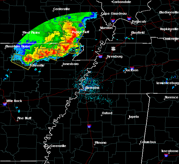 Radar Image for Severe Thunderstorms near Delaplaine, AR at 5/3/2020 1:26 PM CDT