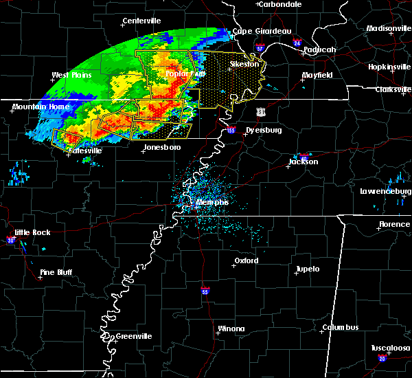 Radar Image for Severe Thunderstorms near Delaplaine, AR at 5/3/2020 1:30 PM CDT