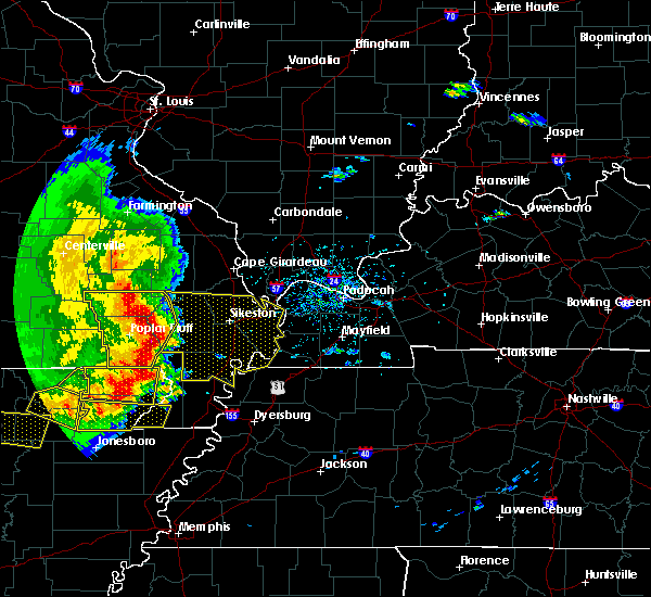 Radar Image for Severe Thunderstorms near Puxico, MO at 5/3/2020 1:31 PM CDT