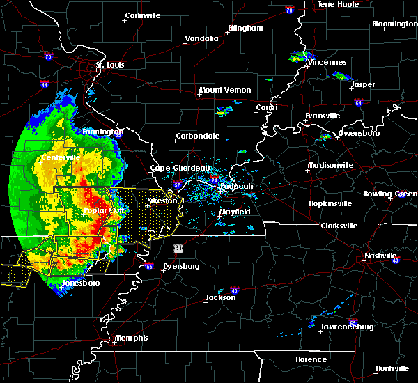 Radar Image for Severe Thunderstorms near Pascola, MO at 5/3/2020 1:33 PM CDT