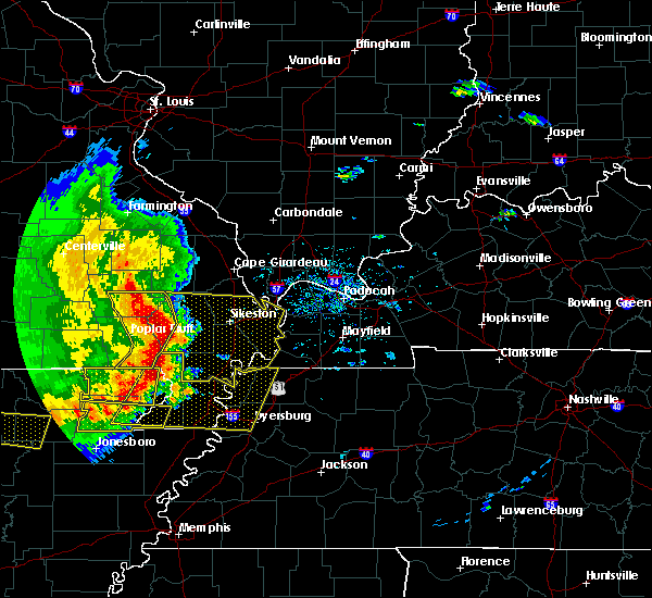 Radar Image for Severe Thunderstorms near Puxico, MO at 5/3/2020 1:38 PM CDT