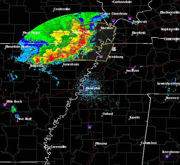 Radar Image for Severe Thunderstorms near Hoxie, AR at 5/3/2020 1:40 PM CDT