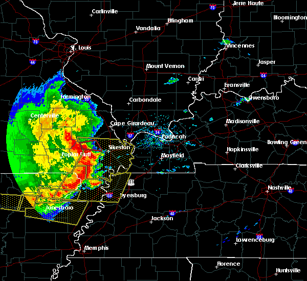 Radar Image for Severe Thunderstorms near Blodgett, MO at 5/3/2020 1:50 PM CDT