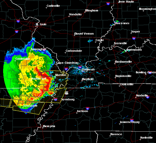 Radar Image for Severe Thunderstorms near Pascola, MO at 5/3/2020 1:53 PM CDT