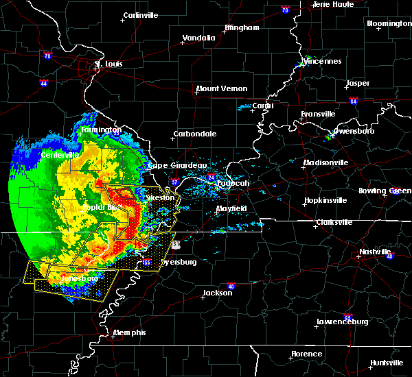 Radar Image for Severe Thunderstorms near Blodgett, MO at 5/3/2020 2:03 PM CDT