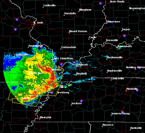 Radar Image for Severe Thunderstorms near Bell City, MO at 5/3/2020 2:12 PM CDT