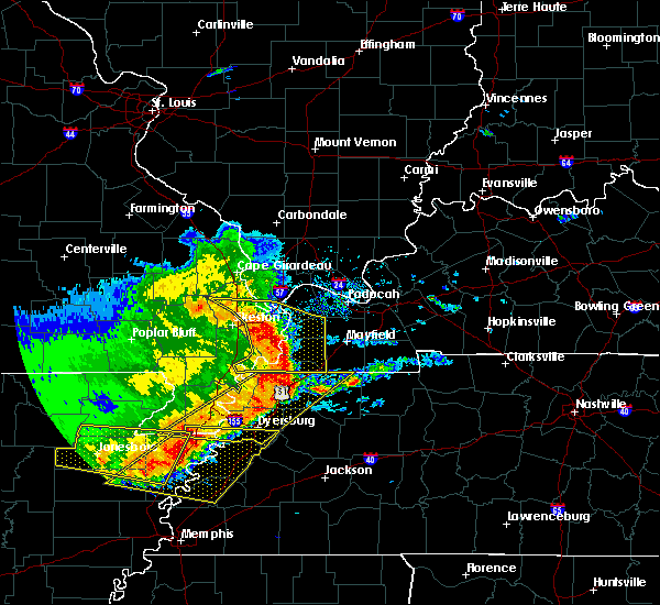 Radar Image for Severe Thunderstorms near Blodgett, MO at 5/3/2020 2:27 PM CDT