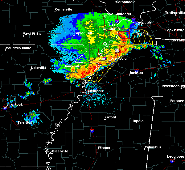 Radar Image for Severe Thunderstorms near Blytheville, AR at 5/3/2020 2:43 PM CDT