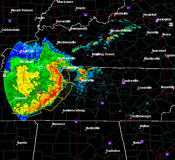 Radar Image for Severe Thunderstorms near Clifton, TN at 5/3/2020 4:07 PM CDT