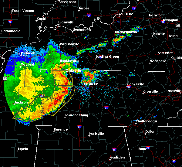 Radar Image for Severe Thunderstorms near Summertown, TN at 5/3/2020 4:15 PM CDT