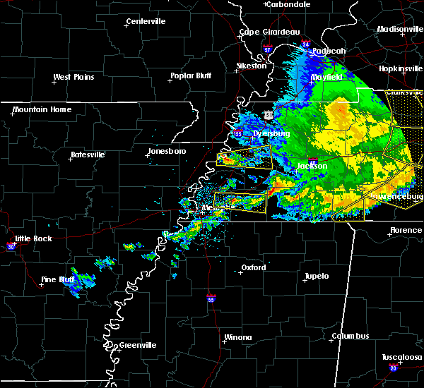 Radar Image for Severe Thunderstorms near Gates, TN at 5/3/2020 4:22 PM CDT