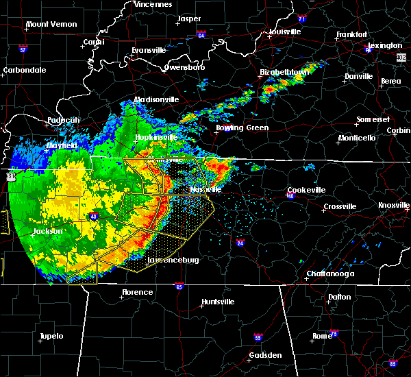 Radar Image for Severe Thunderstorms near Pegram, TN at 5/3/2020 4:25 PM CDT